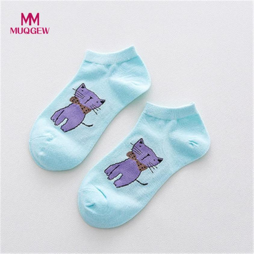 Women Socks Casual Work Business Cotton Cartoon Cat hat sale newest Fashion Sock Comfortable Striped pantuflas chinelos de meias