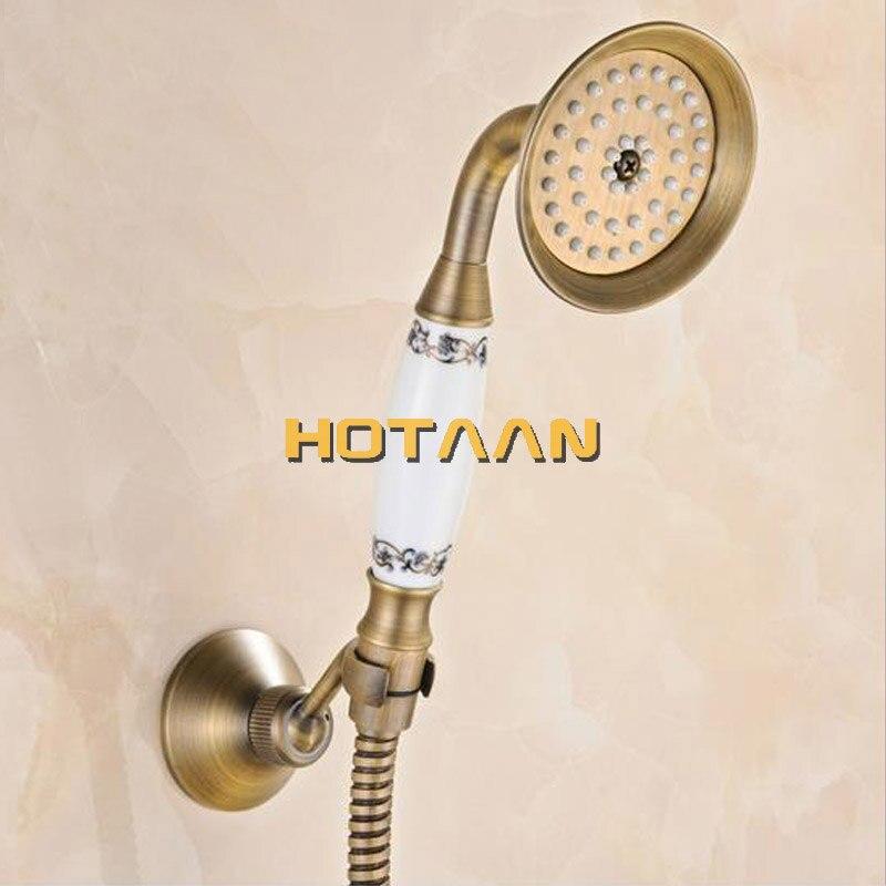 Free shipping Bathroom Bath Tub Wall Mounted Hand Held Antique Brass ...