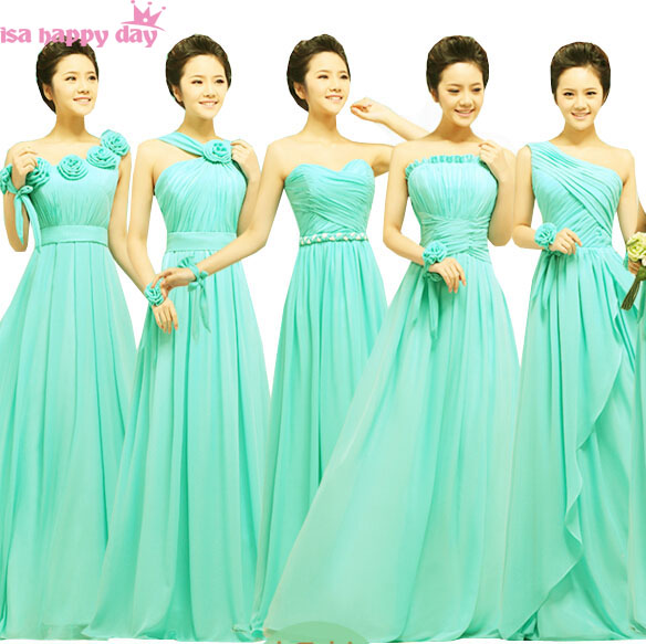 58e1399b606 brides maid sexy semi formal turquoise green bridesmaid brides maids formal  bridesmaids  dresses women of the bride dress B1127