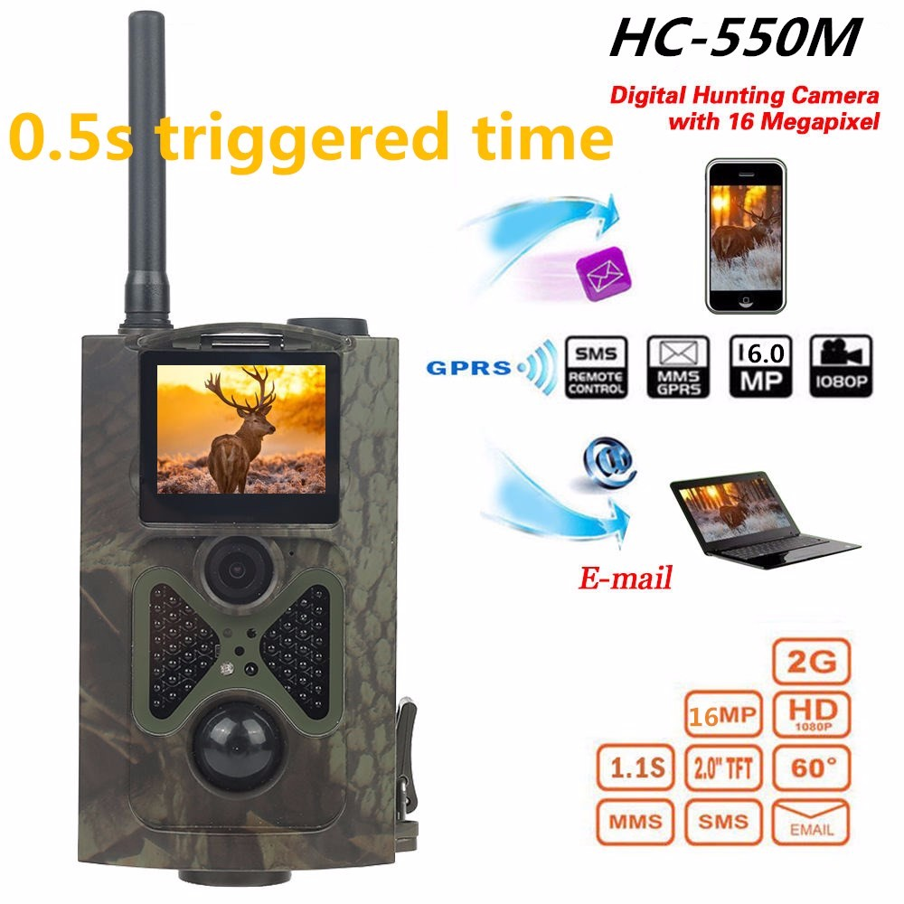 Free shipping 16MP Hunting Trail Camera with 120 degree Wide Angle sensing HC550M Wild camera