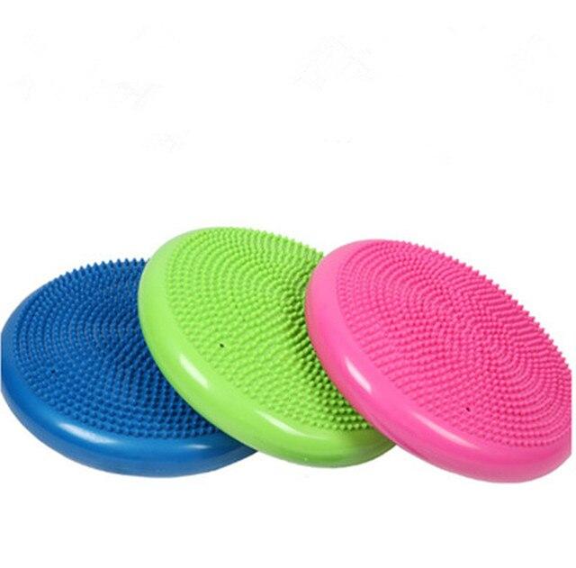 1 PCS Durable Universel Gonflable Yoga Wobble Stabilité Disque Équilibre  Coussin De Massage Tapis De Yoga 77d9229e2ff