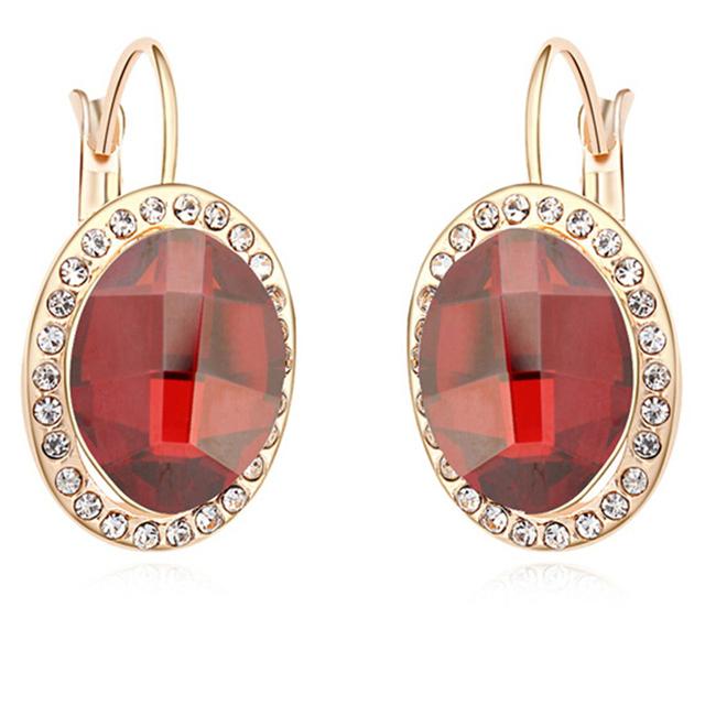 Brincos de Cristal de Swarovski Elements Coreano Moda Mulheres Jóias Rodada Oscila Brincos Moda Bijuteria 14299