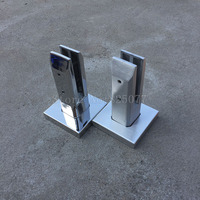 1PCS Polish Brushed Duplex 304 Stainless Steel Square Glass Pool Fencing Spigots Balustrade Staires Parts JF1384