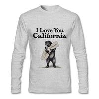 Erkek Tee Tops Lüks Marka I Love KALIFORNIYA Son T-shirt Ucuz Fiyat Uzun Kollu Erkek Tee Tops XS, S, M, L, XL, 2XL