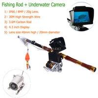 IP66 Водонепроницаемый Мини Объектив Подводные Камеры Рыбалка Камеры Объектив Удочка с Рыбой Видеокамеры Свободный Корабль