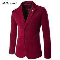 Uomini Blazer Giacche Slim Fit Plus Size 5xl Vestito di Svago Cappotto uomo Giacca Sportiva Hombre Terno Masculino Nero Rosso Blazer Per uomini