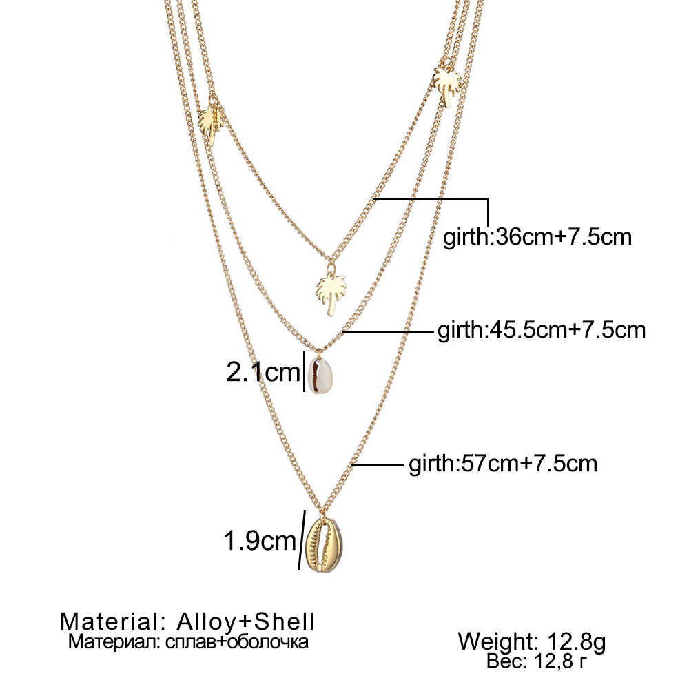 d04864c84e1e0 VOVA Boho Map Shell Beads Multi Layer Necklaces 2019 New For Women Gold  Sliver Fashion Necklaces Pendants Ocean Jewelry