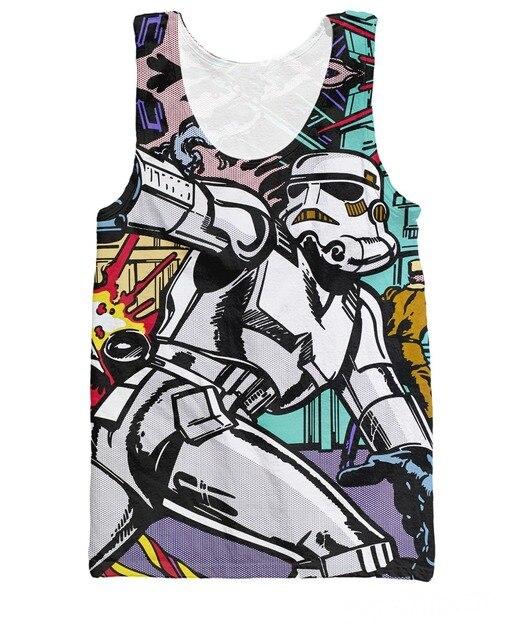 RuiYi Mujeres Hombres 3d tees Summer Estilo guerra de las galaxias Stormtroopers deleite Tank Top camisetas Jersey Chaleco Más El Tamaño S-XXXL Envío Libre Shipp