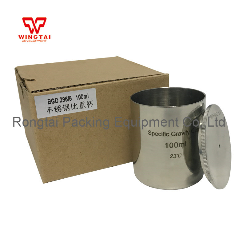 50/100cc/ml Stainless Steel Density Cup BGD296 Coating Gravity Cup For Paint lab testing stainless steel density cup 50ml capacity specific gravity cup