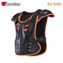 HEROBIKER Children Motorcycle Armor Vest for 4-12 Ages Kids Protective Gear Body Armor Moto Vest Motocross Protector Guards