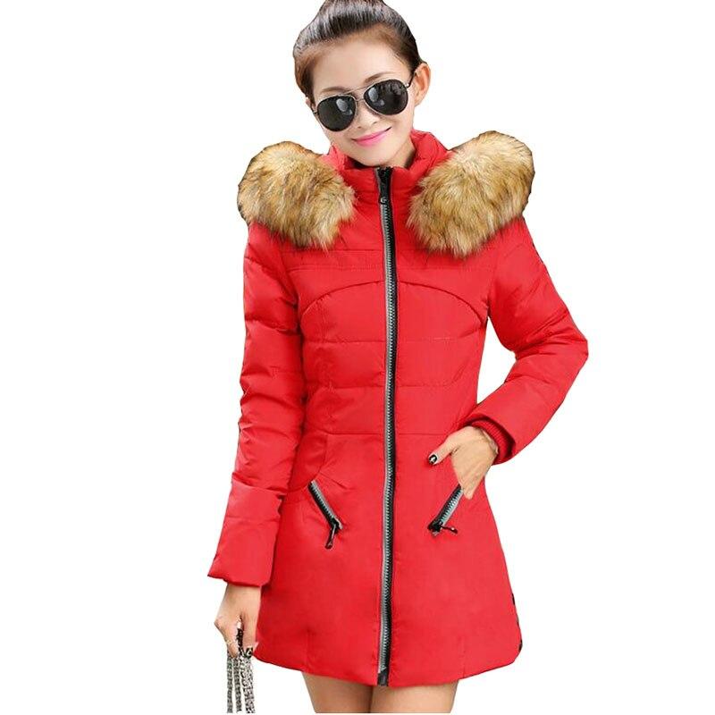 Plus size M-7XL Winter Parkas Women 2018 New Cotton Jacket Fur collar  Hoodies Warm Top Slim Female Large size Down cotton Coats 630cbd9dfbd5