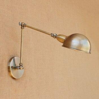 Ō�欧スタイルのヴィンテージ壁ランプ産業調整可能な金属鉄アート真鍮色壁ライトレストラン寝室アートデコ照明