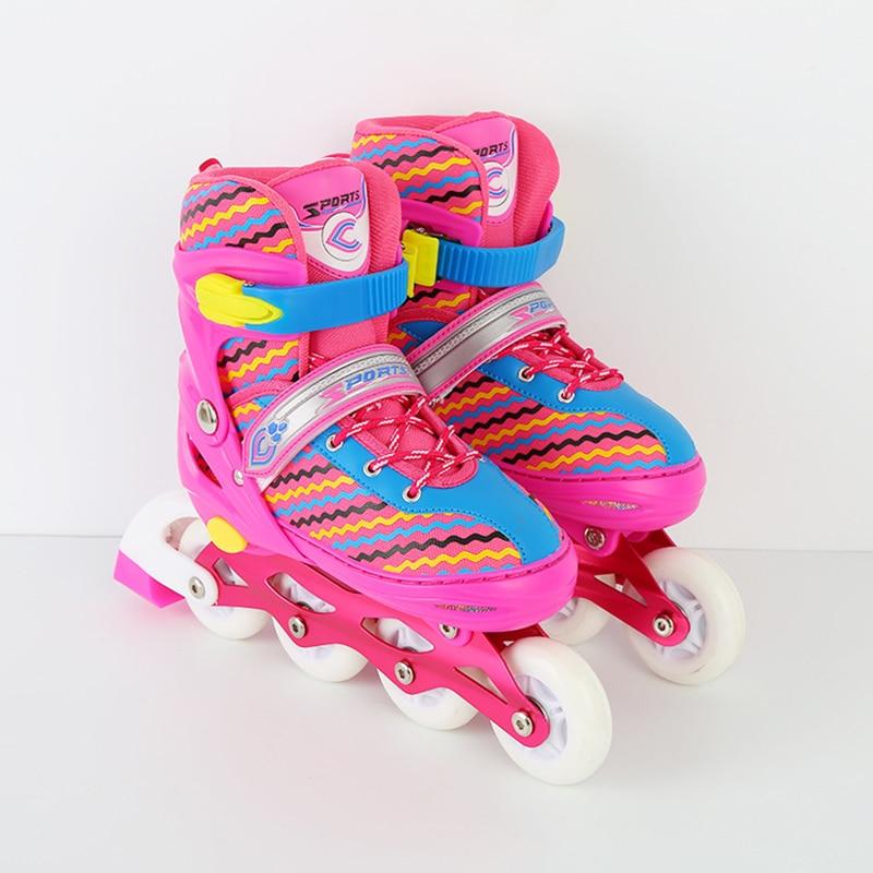 NEW Professional Adult Children Double Line Inline Skates Skating Shoes Adjustable Size Breathable Patines PU Flashing WheelsNEW Professional Adult Children Double Line Inline Skates Skating Shoes Adjustable Size Breathable Patines PU Flashing Wheels