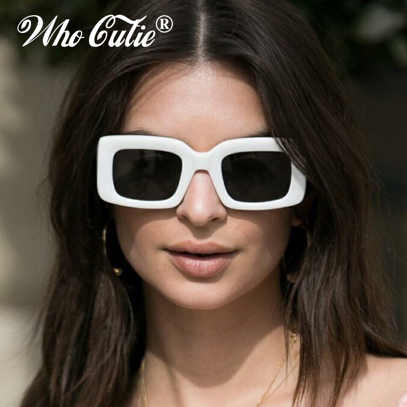 WHO CUTIE 2018 Vintage Oversized Square Sunglasses