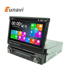 Eunavi Single 1 DIN Car DVD Player auto radio GPS WIN8 UI Touch Stereo Radio automotive+free 8GB map