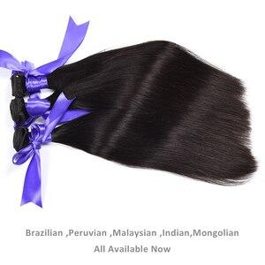 Image 3 - Aliafee Brazilian Straight Hair Bundles With Closure Non Remy Hair Weave 3 Bundle Deals 100% Human Hair Bundles With Closure