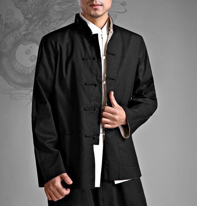 Вин чун с обеих сторон носить куртка боевые искусства равномерное кунг-фу лонг-джерси + белье дна рубашки одежда тан костюмы пальто