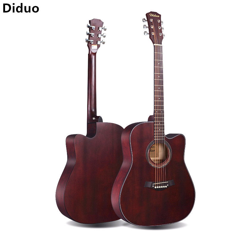 Diduo 41 Inch Acoustic Guitar Folk Sapele Six Strings Guitarra Rosewood Fingerboard Musical Instruments Closed Knob Beginner diduo 40 inch 41 acoustic guitar beginner entry student male and female instrument wound guitarra