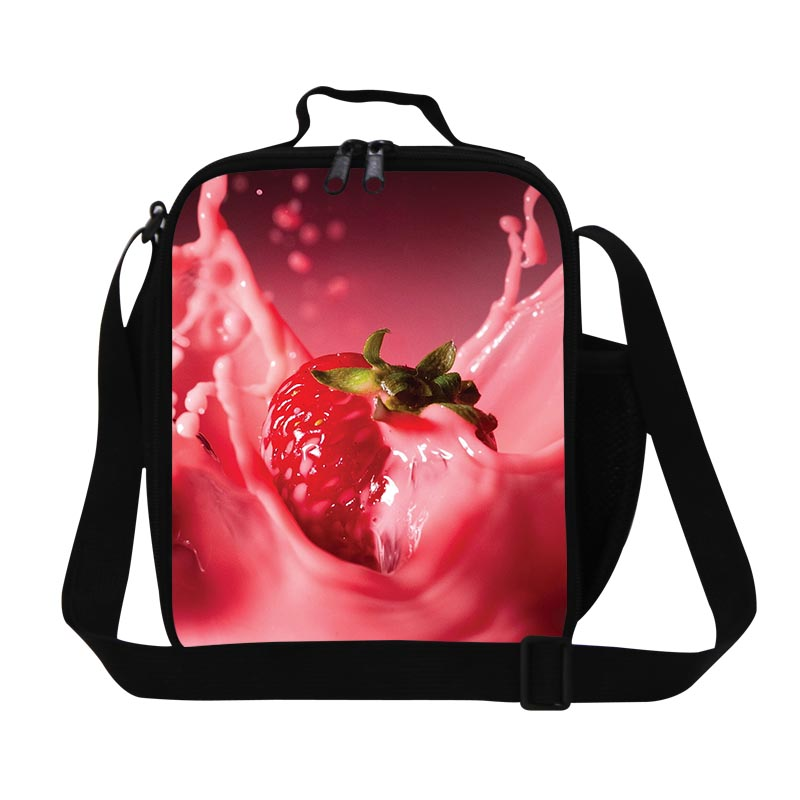 Dispalang Candy Fruit Print Insulated Lunch Bags Kids Pouch Food Storage Girl Small Office Bento Box Thermal Picnic Snacks Bag