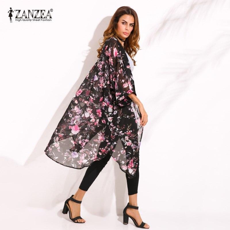 Zanzea Tops Blusas Plus Size S 4xl Women 2017 Floral Print