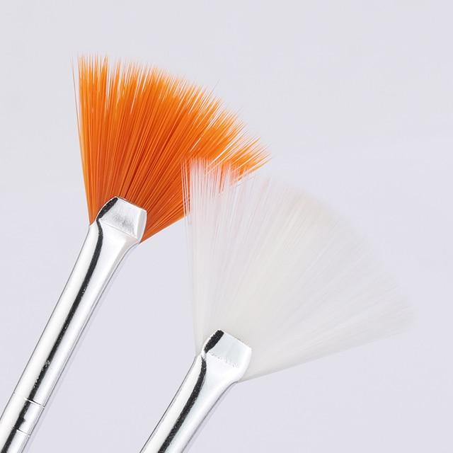7/15Pcs Plastic Handle Nail Brush Set Design Gel Polish Painting Drawing Acrylic Gel Nail Brushes For Nails Art Manicure Tools 6