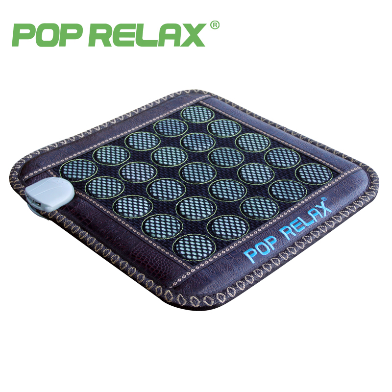 POP RELAX 110V jade stone seat mattress electric heating pad mat far infrared physiotherapy health care thermal sitting mattress natural tourmaline mat jade health care pad electric heating mattress germanium stone mattress for sale 0 7x1 6m
