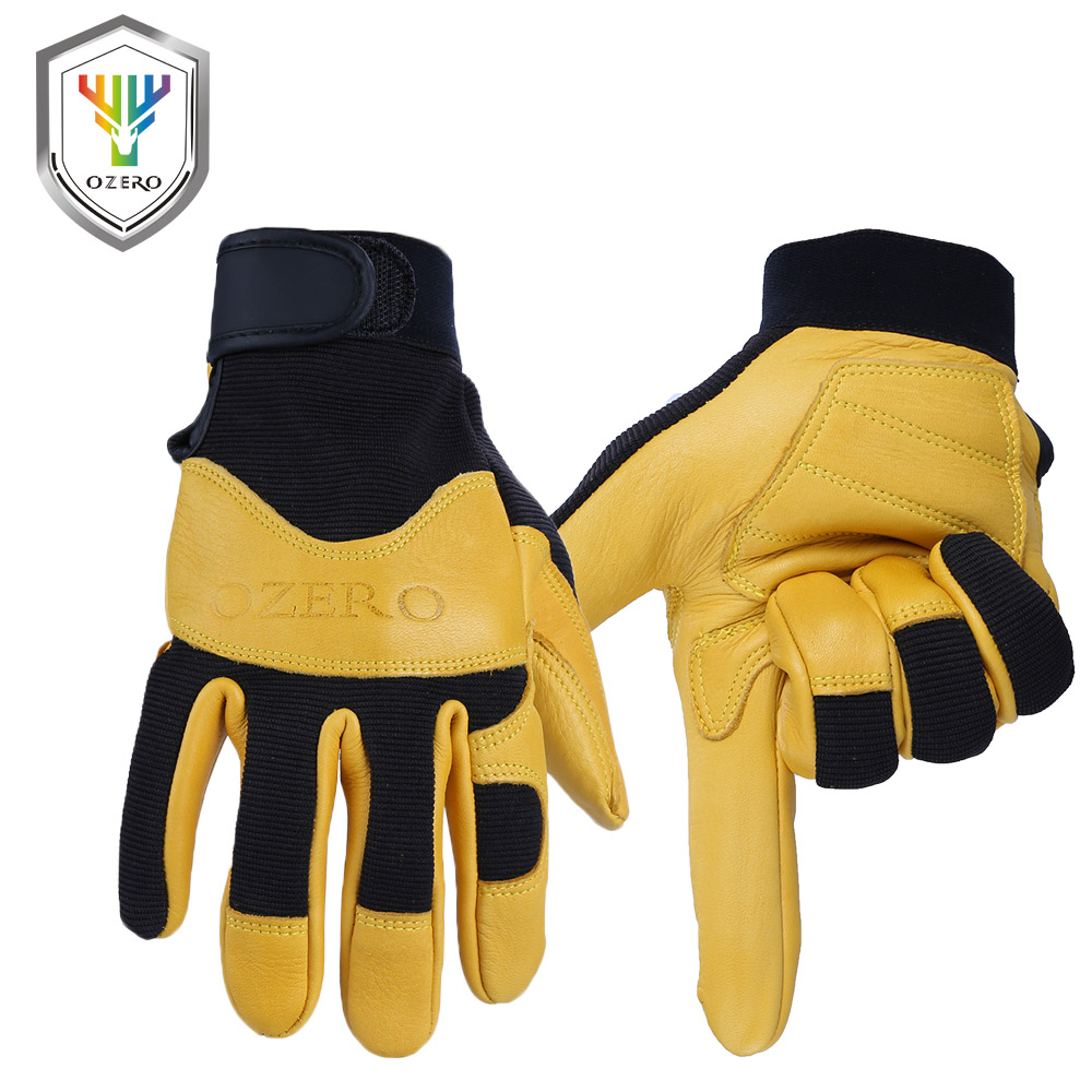 Motorcycle gloves deerskin - Ozero Motorcycle Gloves Deerskin Leather For Working Driving Hunting Superior Moto Harle Racing Cycling Bike Gloves For Man 8001