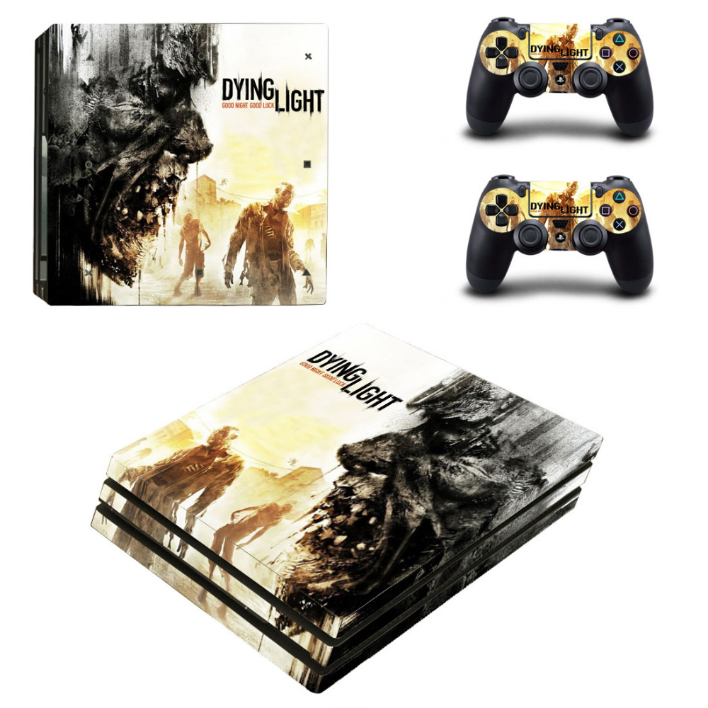 Dying Light PS4 Pro Skin Sticker Decal for PlayStation 4 Console and 2 Controllers PS4 Pro Skin Sticker Vinyl