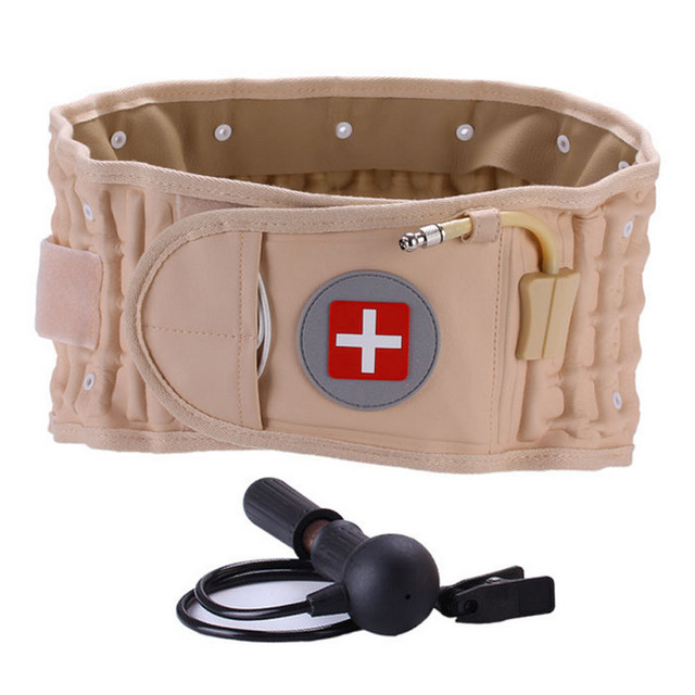 Pain Relive Lower Air Traction Spinal Belt Back Waist Posture Waist Lumbar Traction Belt Brace Support Lumbar Traction Belt
