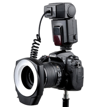 Godox ML 150 ماكرو الدائري ضوء فلاش Speedlite مع 6 محول العدسة خواتم لكانون نيكون بنتاكس أوليمبوس كاميرات DSLR