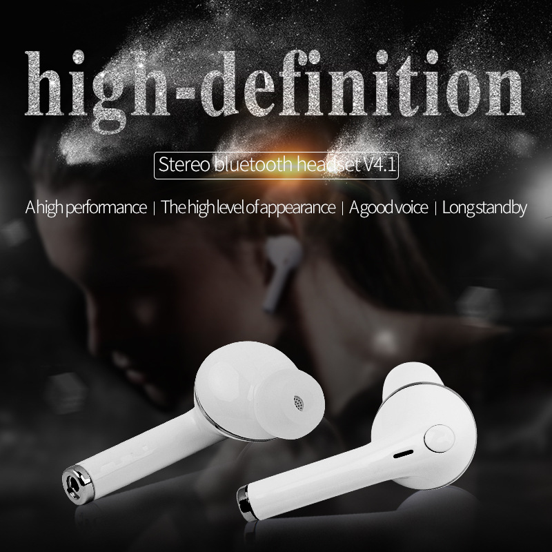 Mini Wireless Bluetooth 4.1 Earphones Earbuds TWS 2 Earphone Headset With Microphoe For Apple Airpod For IPHONE7 Puls 5S Xiaomi