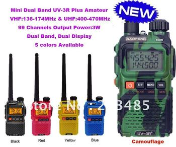 New Arrival Dual Band Mini Pocket two way radio BAOFENG UV-3R+ Plus  free shipping - sale item Walkie Talkie