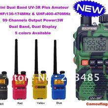 New Arrival Dual Band Mini Pocket two way radio BAOFENG UV-3R+ Plus free shippin