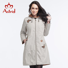 Astrid 2015 Women's Coat High Quality Autumn And Winter Trench Coat For Women Slim Hooded Polar Fleece Butterfly Fashion AY-1575