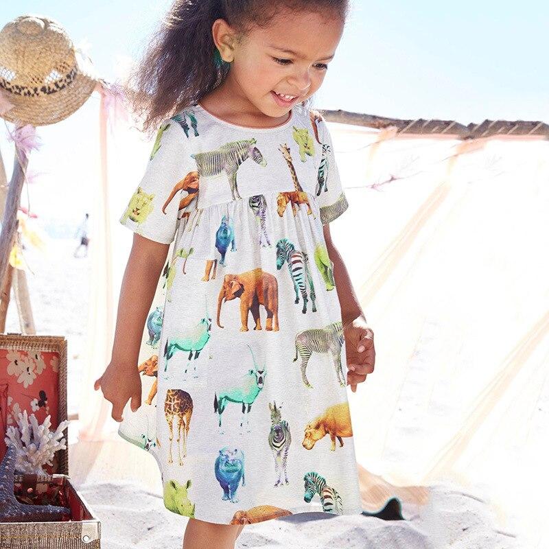 Chicas Vestido de Verano Impresa 2017 Marca Princesse Robe Fille Niño Vestido de