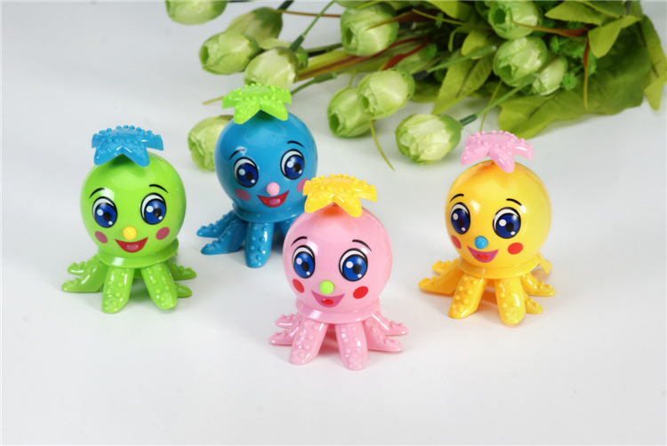 Cute Animal Octopus Action Figures Rotation Wind Up Cartoon Toy Cute Educational Toy Clockwork Toys For Children Birthday Gift