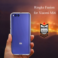 Original Ringke Fusion Phone Case for Xiaomi Mi 6 Case Clear PC Hard Cover and Soft TPU Frame MObile PHone Case for Mi6