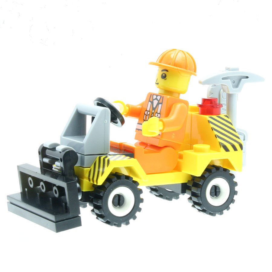 38Pcs/set Engineering Shovel Truck Model Figures Staff Toys for Kids Model Building Kits Compatible with All Brands DT0035