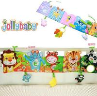 Colorful Animal Patterns Baby Mobile Cloth Book Crib Bed Around Soft Plush Early Educational Multi Touch