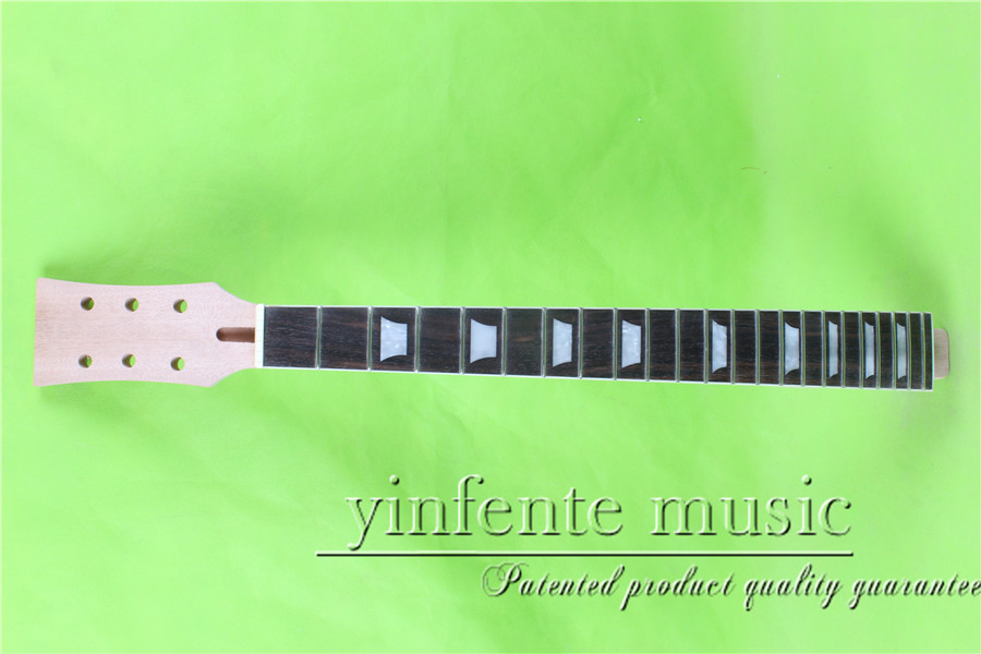 L -00122#    24.75 Electric guitar neck R mahogany  made  osewood      fingerboard fine quality  22 fret