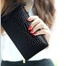 NEW ARRIVAL Korea Crocodile skin Lady Handbag PU High-capacity Women zipper Casual chic long type Dinner bag By Money