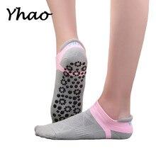 Yhao Brand Professional Yoga Socks Seamless Toe For Women Anti-skidding Sports Fitness Pilates Good Grip Pure Cotton