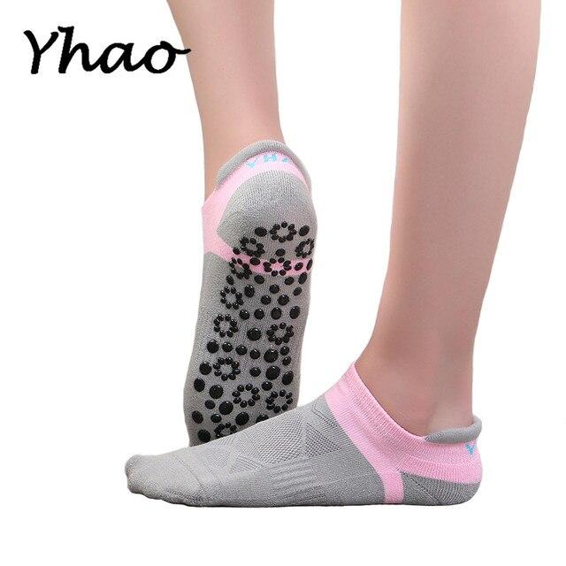 3dad1be91 Yhao Brand Professional Yoga Socks Seamless Toe For Women Anti-skidding  Sports Fitness Pilates Good Grip Socks Pure Cotton