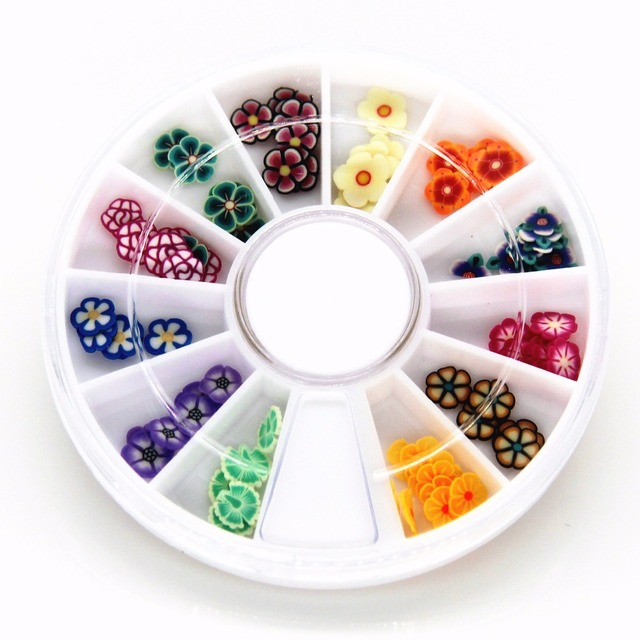 Aliexpress.com : Buy DIY Nail Art Wheel Decoration Fruit shaped ...