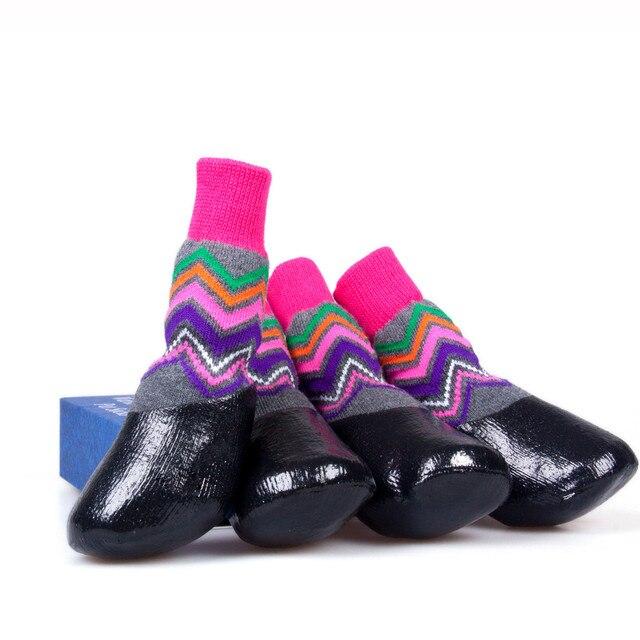 Pet Dog Cute Waterproof Footwear high quality puppy dog socks newest  arrival Pet Dogs Warm Socks Dog Non-slip Pet Sock Shoes