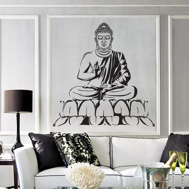 Wall Vinyl Decal Buddha Yoga Meditation Relaxation Zen Bedroom Decor