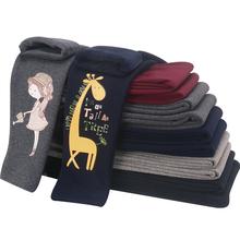 Nowe dziewczęce legginsy na zimę pogrubienie ciepłe spodnie dziecięce długie spodnie dla dzieci Cartoon Skinny odzież Legging Girl 4-14 lat tanie tanio GCWHFL COTTON CN (pochodzenie) Dziewczyny NONE Pełnej długości Pasuje prawda na wymiar weź swój normalny rozmiar Elastyczny pas