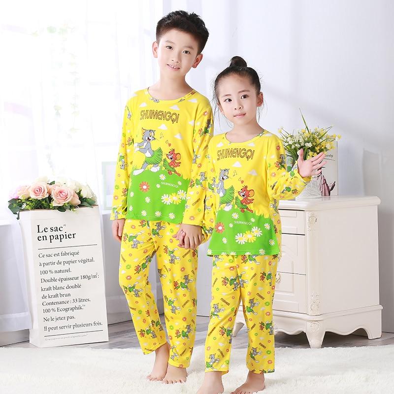 Autumn Winter Children Pajamas Long Sleeve Cartoon Kids Catamite Girl Clothes Suit Lovely Childrens Pyjamas Boy Home Wear Cloth