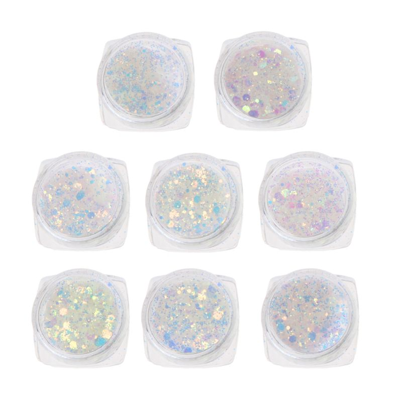 8Pcs UV Color Change Mica Powder Sunlight Reactive Glitter Resin Jewelry Making Resin Epoxy Powder DIY Crafts Accessories