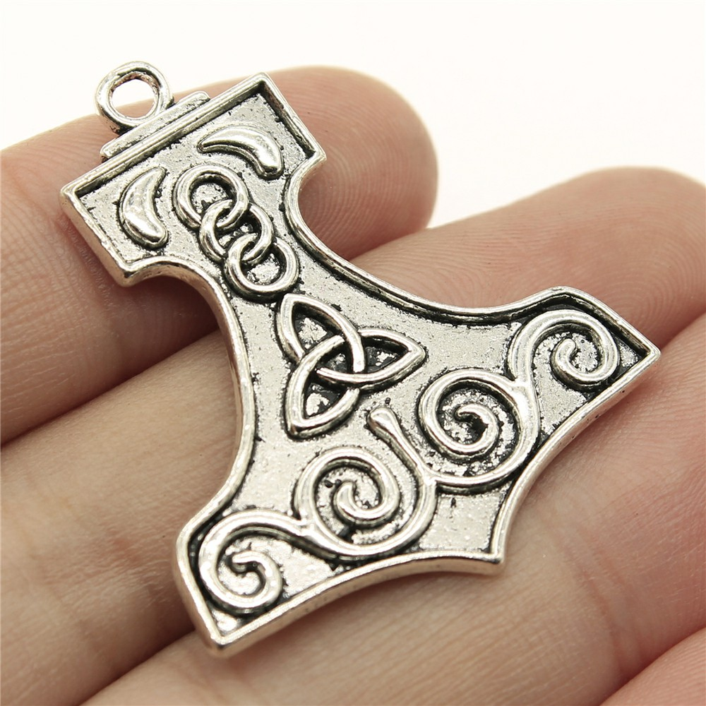 WYSIWYG 3pcs 40*34mm Boat Shape Triquetra symbol Pendants Charms Findings Jewellery Making Findings for DIY Craft